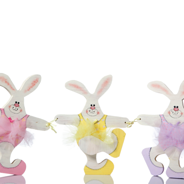 Easter rabbits doing a dance
