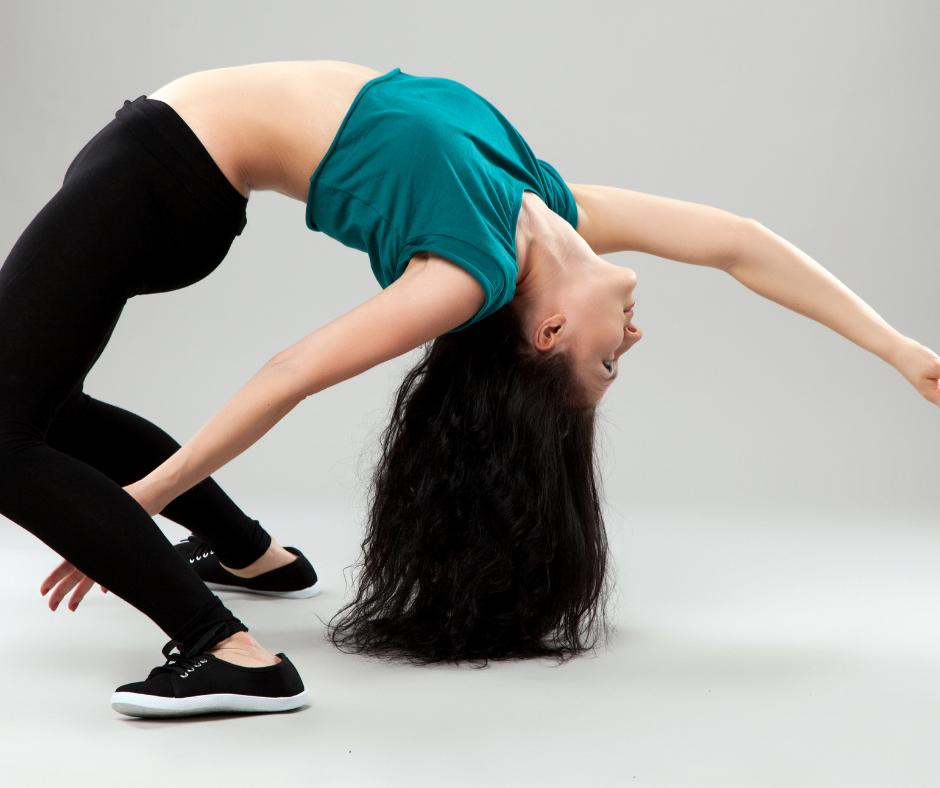 Dancer doing a back bend