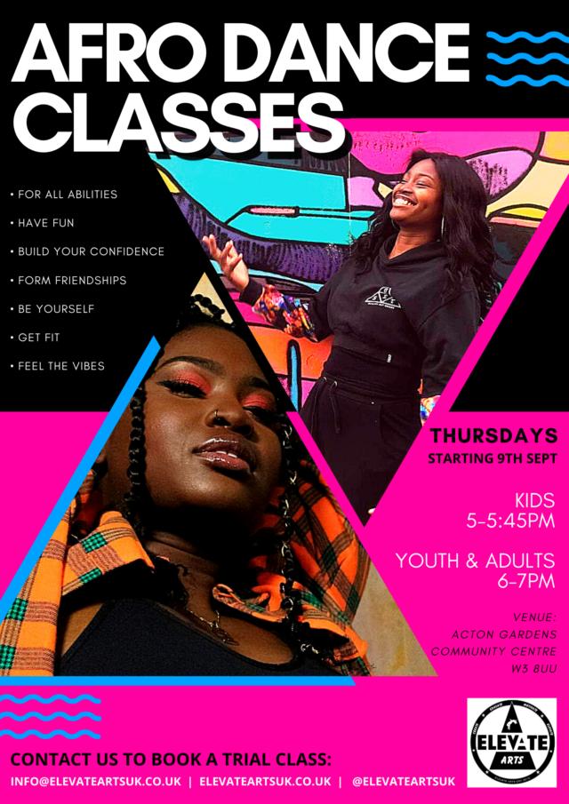 Afro Dance Classes Acton, Ealing