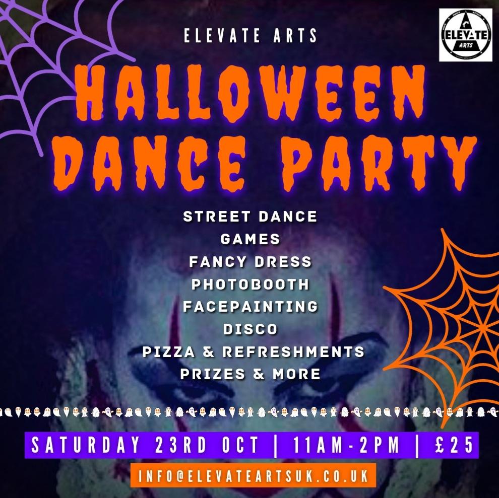 Halloween dance party flyer